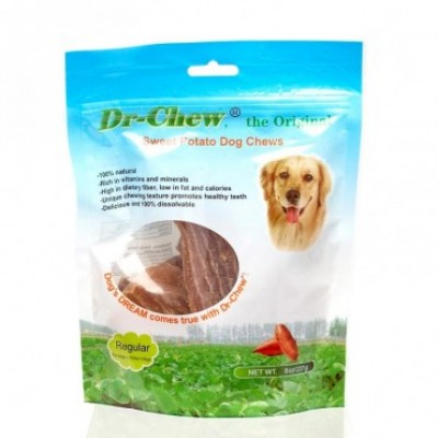 Dr Chew Sweet Potato Dog Treats Regular 454g
