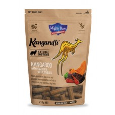 Mighty Raw Kangaruffs Kangaroo with Vegetables Dog Treats 210g