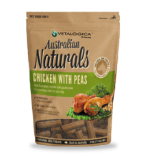 Australian Naturals Chicken with Peas Dog Treats 210g